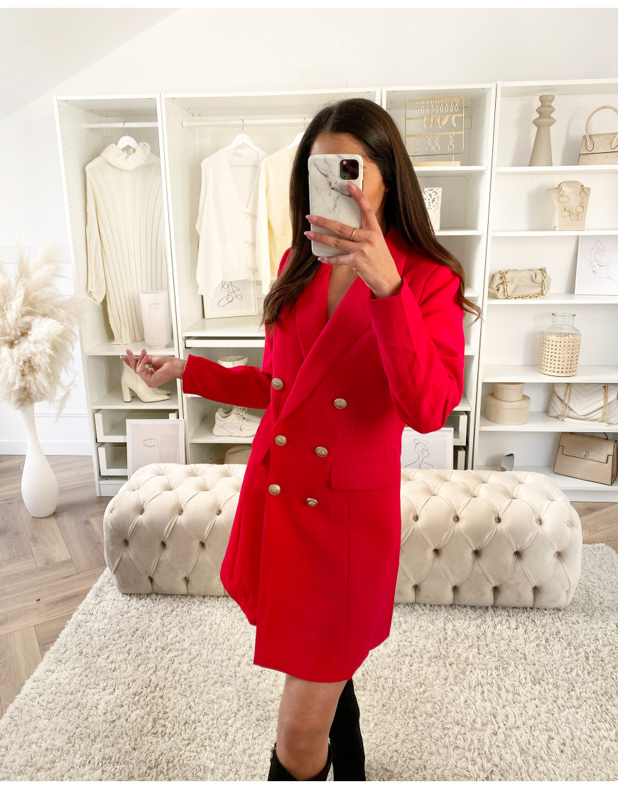 ROBE BLAZER ROUGE
